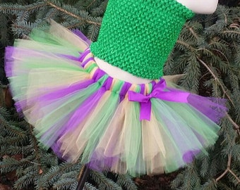 Mardi Gras Tutu Skirt (Headband Sold Separately) TUTU SKIRT ONLY, Mardi Gras Skirt, Adult Mardi Gras Tutu, Mardi Gras Party