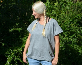 T-Shirt Heather simply organic Jersey grey