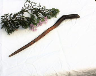Hand Carved Red Oak Wood WIZARD WAND Witches Wand Magic Wand  Wand  OOAK