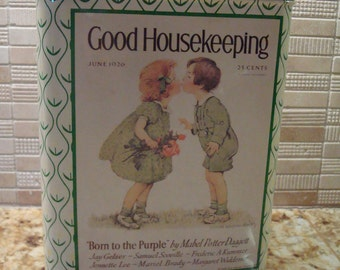 """Vintage Replica 1926 Good Housekeeping Tin - """"Born to the Purple"""" - Fantastic Condition!!"""