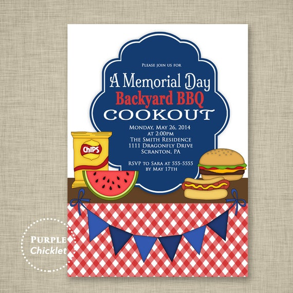 May The 4th Be With You Invitations: Cookout Party Invitation Labor Day Memorial Day BBQ Invite