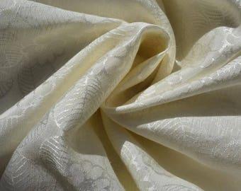 Hemp + Silk + Tencel fabric blend. Fabric by the yard.