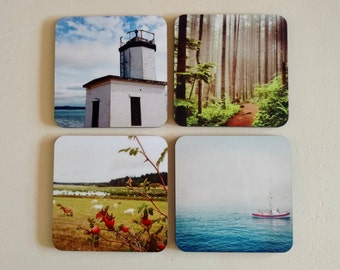 Coaster Set of 4 - Original Photography by Jars & Buttons - Pacific Northwest