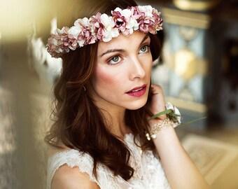 Flowercrown pink wedding