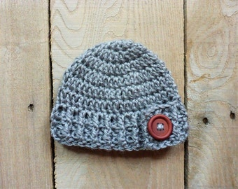 Baby Button Flap Hat