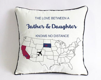 Custom father daughter pillow case-fathers day gifts for step dad-Xmas gift for