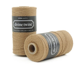 Solid Brown, Bakers Twine-240 Yards. Divine Twine, Bakers Twine. Gift Tags, Wedding, Tag Twine, Cotton, Made in USA