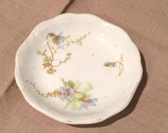 "Vintage Antique 3"" Miniature  Scalloped Johnson Bros. Royal Semi Porcelain England Plate"