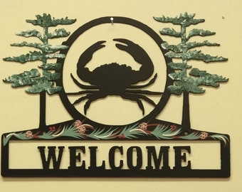 Crab Welcome Sign