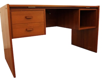 Mid Century Desk Trekanten Danish Modern Desk Tilting-Top Teak Desk