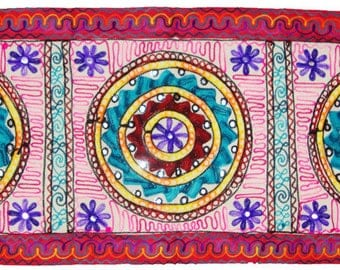 Handmade Kashmir's embroider Indian table runner wall hanging tapestry beautiful home decoration
