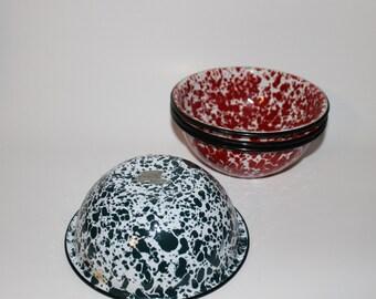 Vintage Enamelware Bowls