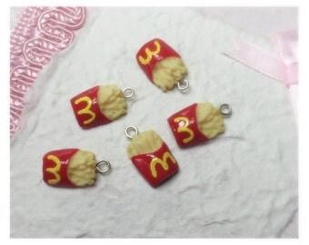 x5 French Fries Flatback miniature Charms