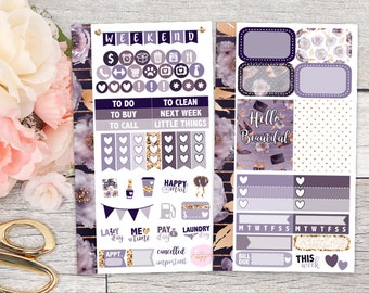 Elegant Plum Personal Size Weekly Kit    Planner Stickers