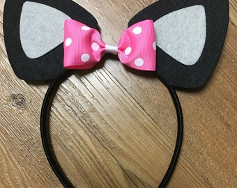 Cat Ears, Kitty Cat Ears, Cat Headband, Cat Birthday Party, Kitty Birthday Party, Halloween Cat Costume
