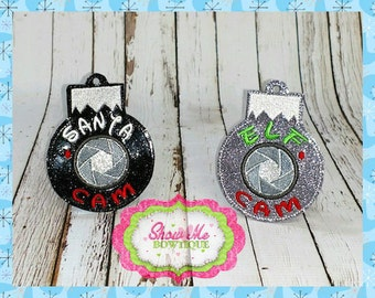 Santa & Elf Cam Ornament Embroidery Designs