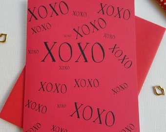 XOXO Card, Anniversary Card for Boyfriend, Anniversary Card for Husband, Love Card for Her, Anniversary Card Wife, Love Card for Him