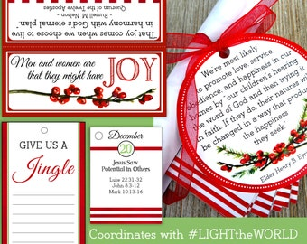 December 2016 Printable Visiting Teaching Message and Handouts, INSTANT DOWNLOAD, Family Joy is Found in Righteousness