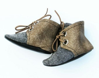 Black Linen Petite Boots
