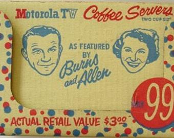 Burns & Allen Motorola T.V. 2 Cup Size 1950S Coffee Server