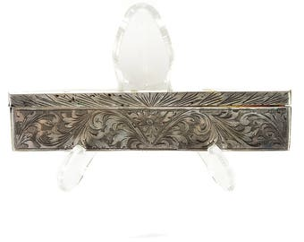 Antique Comb w/Sterling Silver Handle and Cover