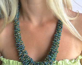 Beaded Necklace Handmade Statement Necklace