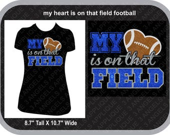 My Heart Is On That Field Football Version SVG Cutter Design INSTANT DOWNLOAD
