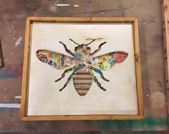 Wood Bee Silhouette