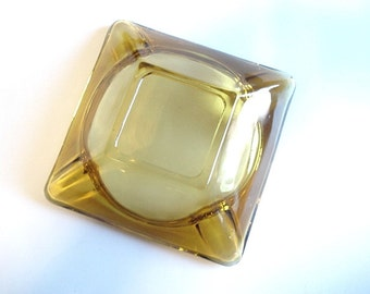 Chunky Square Glass Ashtray