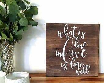 Large Wooden Quote Sign