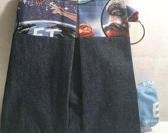 Handmade ET Doggie Poop Bag & Waste Dispenser, Hands Free Poo Bag Attaches to Leash