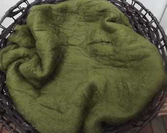 Felted Olive Green Layer
