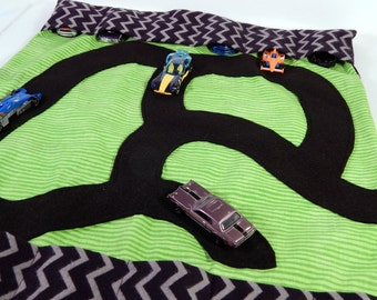 Matchbox hot wheels car holder roll up storage with play road FREE SHIPPING!