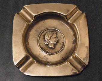 Brass Commemorative Ashtray Coronation of Queen Elizabeth II 1953 Coronation Brass Ashtray Souvenir Royal collectable Coronation Ashtray