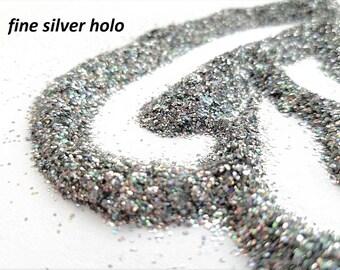 glitter - fine silver hologram polyester