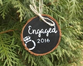 Engaged Ornament - Engaged 2016 Ornament - Engagement Christmas Ornament - 2016 Engagement Ornament