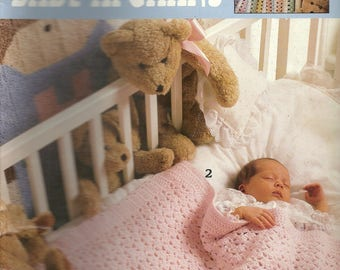 Vintage 1995 BEARY SWEET BABY Afghans by Leisure Arts - Leaflet #2774 - 6 Different Designs