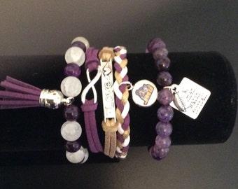JMU stackable bracelets