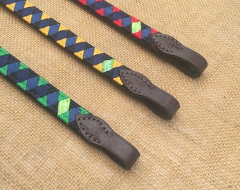 READY TO SHIP  Grosgrain Browband with Polo Finish