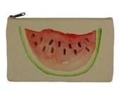 Pencil case stationary watermelon pencil pouch canvas bag pencil holder make up bag school supplies