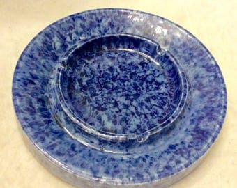 Vintage flow blue Royal Haeger ash tray 8 inch free ship to US