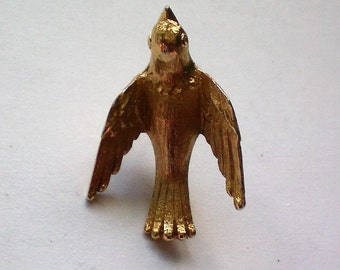 Avon Gold tone Bird Tie Tack or Hat Pin - 5239