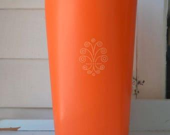 1222-3 TUPPERWARE Orange Canister