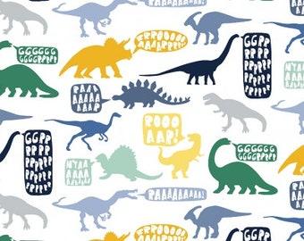 Kids Dinosaur fabric - Dear Stella Stellasaurus Hear Me Roar cotton