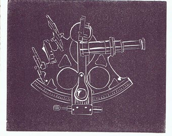 Sextant - Set of 5 Letterpress Printed Handmade Stationery