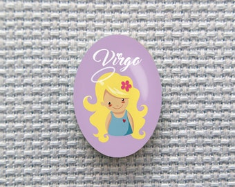 Magnetic Zodiac (Virgo) Needle Minder for Cross Stitch, Embroidery, & Needlecrafts (18mmx25mm with Strong Magnet)