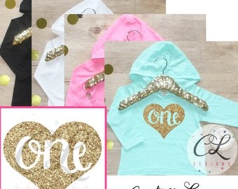 Birthday Girl Shirt / Baby Girl Clothes 1 Year Old Outfit First Birthday Shirt 1st Birthday Girl One Outfit Hoodie Cake Smash Outfit 010