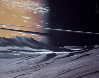 Saturn as seen from Epimetheus