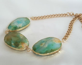 Faceted Agate Statement Necklace