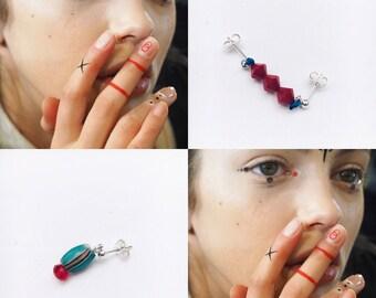 2+1 Pins Earrings Set #04